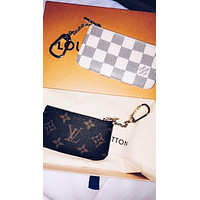 LV classic mini zip wallet card holder