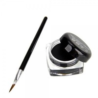 Professional Makeup Eye Liner Eyeliner Curd and Eyeliner Brush Set Black