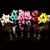 Scented 6 Pack ~ Dozen Wax Dipped Roses
