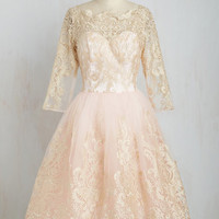 Gilded Grace Dress in Blush | Mod Retro Vintage Dresses | ModCloth.com