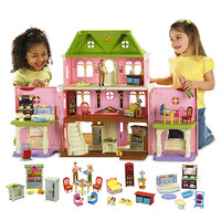 Loving Family Grand Dollhouse Gift Set (Caucasian Family)Buy Gift Set & Save! - Fisher-Price Online Toy Store