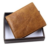 Men Leather Simple Wallet [10762733059]