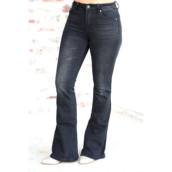 Meant To Be Flare Jeans - Vintage Black