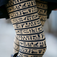 Tan Hieroglyphic Leggings
