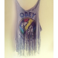 Customized Obey Top from La Luna Clothing Store