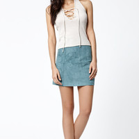 Kendall and Kylie Thermal Lace-Up Halter Tank Top at PacSun.com