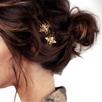 Durable Hot Fashion Women 2PCS Style Girl Exquisite Gold Bee Hairpin Side Clip Hair Accessories
