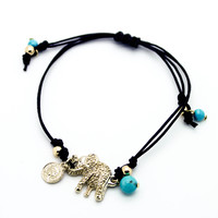 Elephant adjustable bracelet