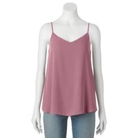 Juniors' Pink Republic Lined Swing Tank Top