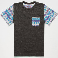 Blue Crown Woodland Boys Pocket Tee Charcoal  In Sizes