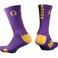Omega Psi Phi Men's Crew Socks