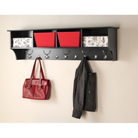 Broadway Black 60 inch Wide Hanging Entryway Shelf | Overstock.com Shopping - The Best Deals on Other Storage