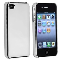 CHROME SILVER CASE COVER+MIRROR FILM for iPhone 4 4S G IOS