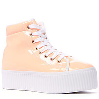 The Jeffrey Campbell Hiya Sneaker Pink Patent