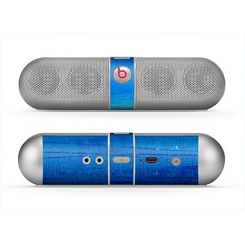 The Unbalanced Blue Textile Surface Skin for the Beats by Dre Pill Bluetooth Speaker