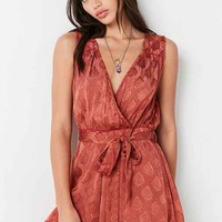 Ecote Rayna Patterned Surplice Romper