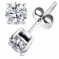 Best Combo 2.00 Carat Round Stud Earrings and 2 Carat Round Pendant with Chain 18 Inch 925 Sterling Silver