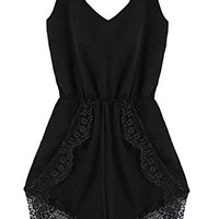 Lace Chiffon Sleeveless Jumpsuit Rompers Womens