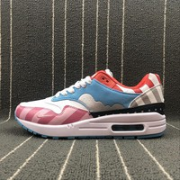 Nike Air Max 1 Parra Pink White Sport Running Shoes - Best Online Sale