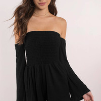 Camila Off Shoulder Romper
