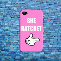 Pink Disney Hand Funny iPhone Case Cute Ratchet Quote Phone Case Custom iPhone Cover iPhone 4 iPhone 5 iPhone 4s iPhone 5s iPhone 5c Case