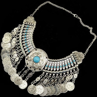 Product:Boho Vintage Gold Turkish Coin Necklace Gypsy Soul Child Black Free Wild Lover Natalie Narcissus People of Bohemian Coachella = 1928844292