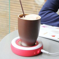 ZLYC Creative USB Heating Pad Portable Coffee Milk Tea Cup/Mug Warmer Electric Beverage Warmer