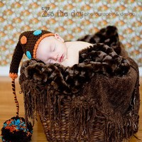 Baby Photography Props Chocolate Brown Dotted by conniemariepfost
