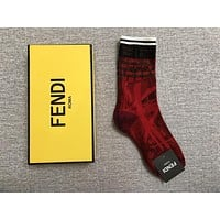 Fendi Colorful graffiti print socks 9 colors
