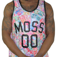 Moss New York Men's Currency Basketball Jersey Top