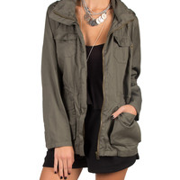 Lightweight Hooded Military Jacket