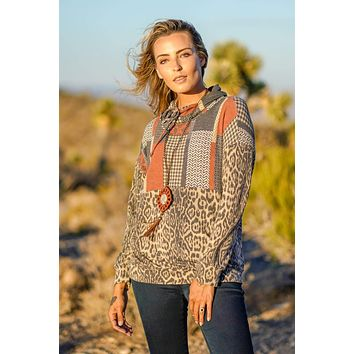 Abelia Tunic Top - Rust