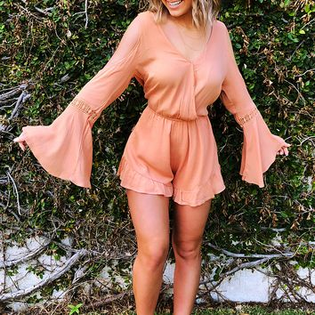 Days Go By Romper: Apricot