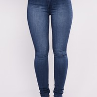 Luxe Glam High Waist Skinny Jeans - Dark