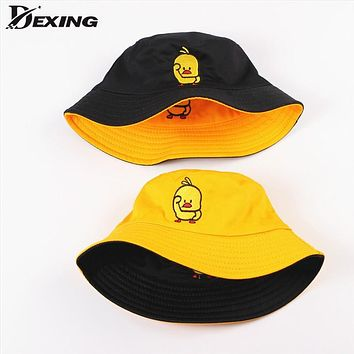 Summer Bucket Hat for men women Fashion cotton reversible Bob Panama sad boys fold girls Sun  hat beach fisherman hat