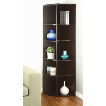 Shifter Modern Expandable Two-Tone Corner Bookcase/ Display Stand