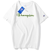 Champion T-shirt is a monochrome embroidered monogram for men and women with short sleeves