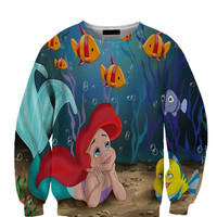 The Little Mermaid All Over Custom Sublimated sweatshirt Unisex Women and Men