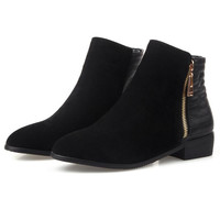 Ankle Boots Hot Skid-Proof Chunky Heels Round Toe Shoes Woman   Botas Woman Chelsea Boot Size 33-43