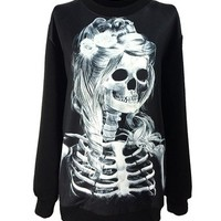 Women Gothic Clothing Zombie Princess Costumes Sweatshirts Pullovers Sweater