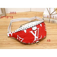 LV BUMBAG Tide brand fashion wild chest bag pocket bag shoulder bag Red