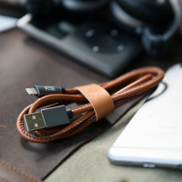 Cool Lightning to USB Charging Cable with Leather Strap USB Cable Charging Data Sync Power Wire