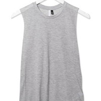 Raw Edge Jersey Tank Top by Boutique - Grey