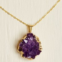Gold Chain Amethyst Necklace