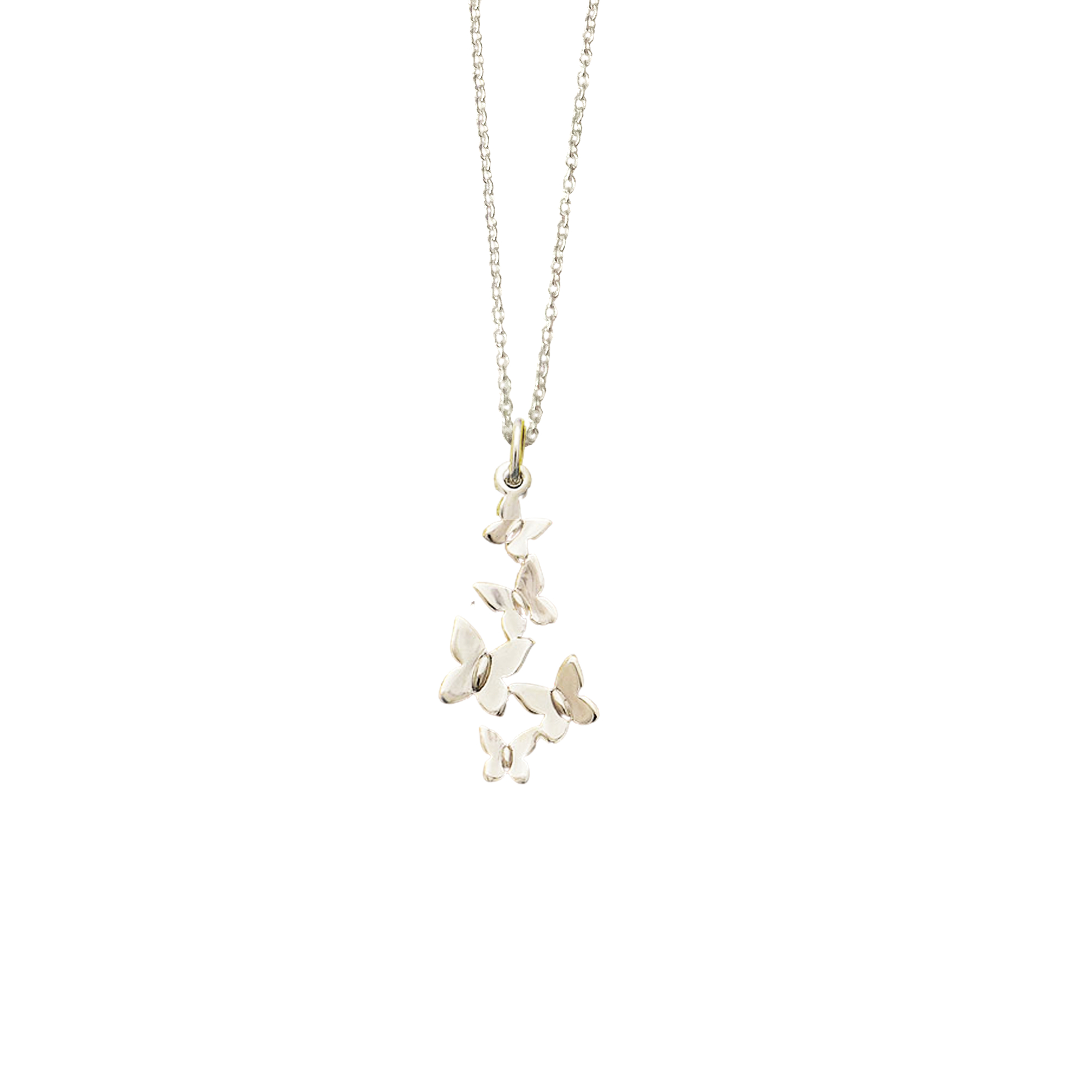 Image of Butterfly Cluster Charm Necklace