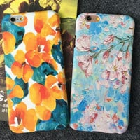 Oil Painting Flower iPhone 5se 5s 6 6s Plus Case