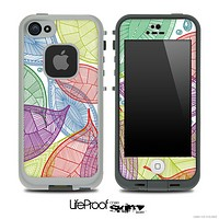 Abstract Seamless Color Leaves Skin for the iPhone 5 or 4/4s LifeProof Case