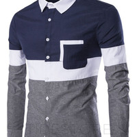 Hayes Oxford Patchwork Button Up