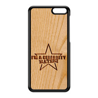 Carved on Wood Effect_Celebrity Hater Black Hard Plastic Case for Amazon Fire Phone by Chargrilled