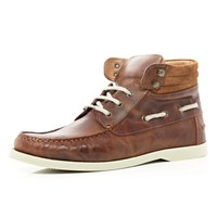 Brown boat ankle boots - boots - shoes / boots - men